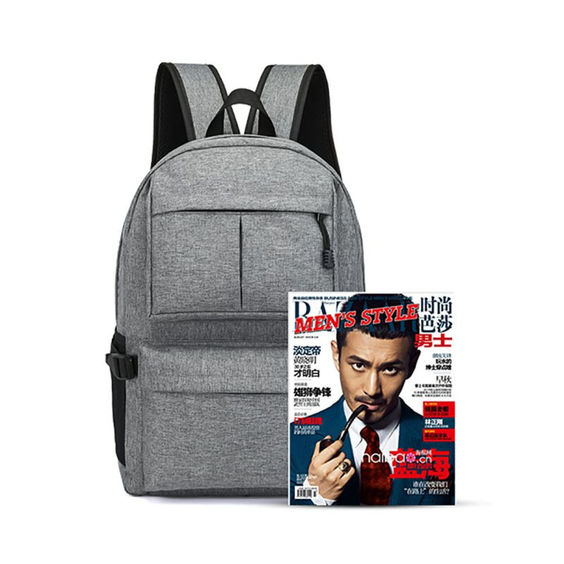 Good! New Multifunctional Backpack Book USB Man Daypack Oxford Canvas Laptop Travel Camping Bags Rn