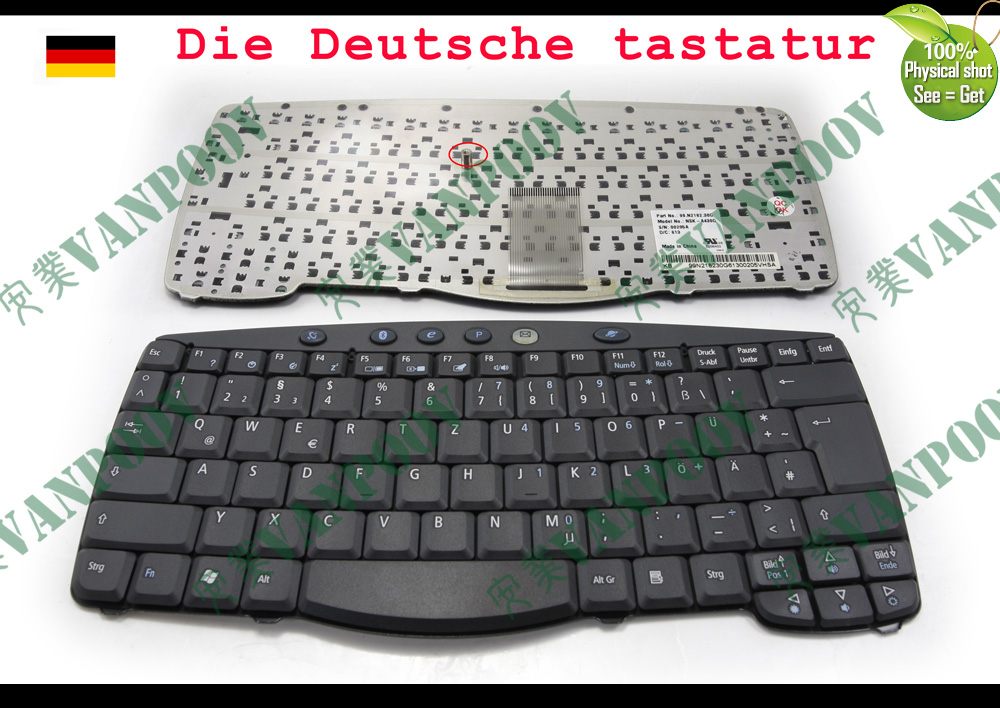 Aspire E1-530G Serie German Keyboard Original Acer Tastatur