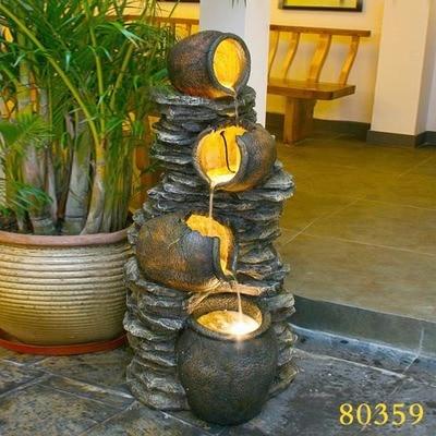 European Household Knick Knacks Indoor Water Fountain Terrace Garden  Rockery Living Room Floor Decoration Humidifier