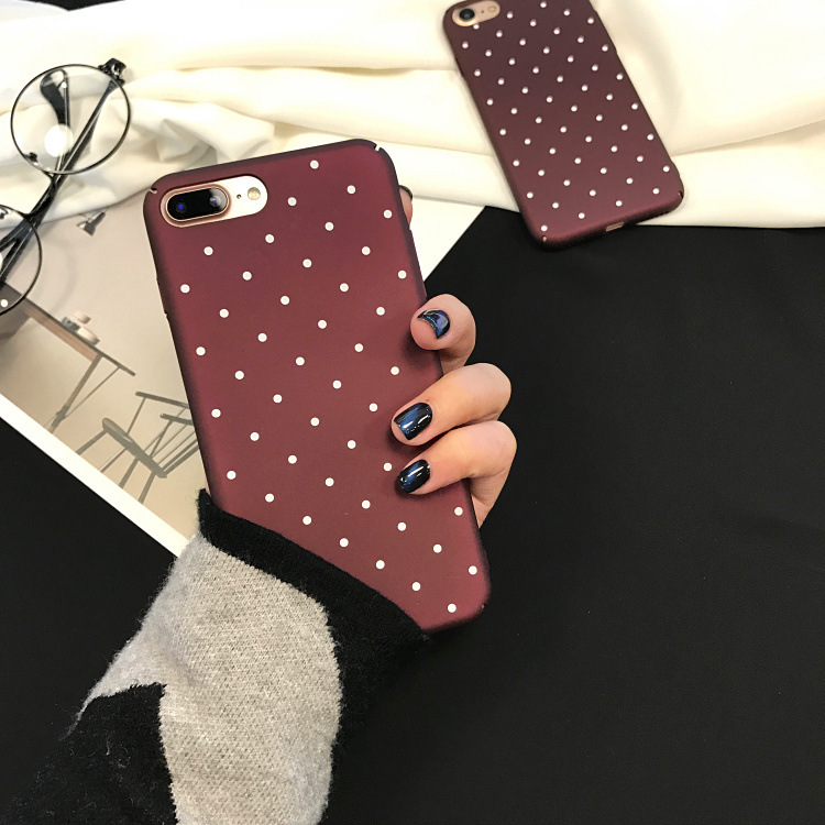 SZYHOME Phone Cases Simple Red for IPhone 6 6s 7 Plus Case Personality Frosted for IPhone 7 Plus Sexy Mobile Phone Cover Capa