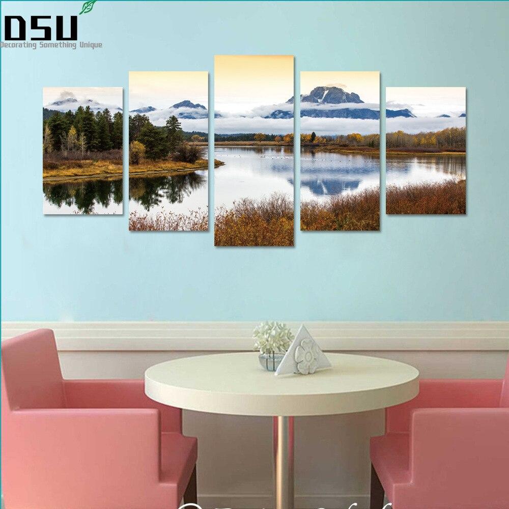 5Pcs Creative 3D Scenery Wall Sticker DIY Decal Art Home Room Decor Good Gift
