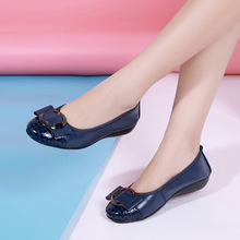 Woman Cow Leather Boat Shoes New Low-cut Slip-on Shoes Women Fashion Elegant Sweet Ladies Loafers Flats High Quality Large Size цена