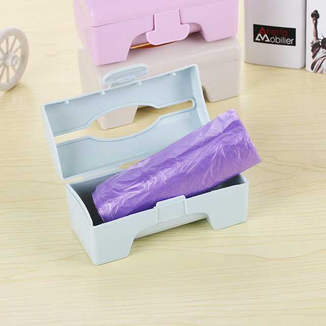 1PC New Fashion Plastic Colorful Home Shower Room Wall-mounted Garbage Bag Box Container Bathroom Kitchen Storage Rack