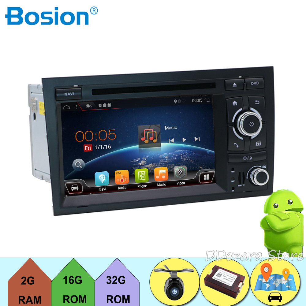 android 7.1 car radio for Audi A4 2003 2011 with wifi,dab,obd,steering wheel control,bluetooth,radio,map,4g,tv,rear view camera