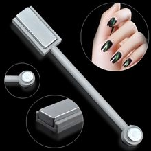 Hotest 3D Designs 1pcs Magnetic Tools Double Head Cat Eye Gel Magnet Stick Curved Line Strip For Polish Nail Gel Nail Art Decor(China)