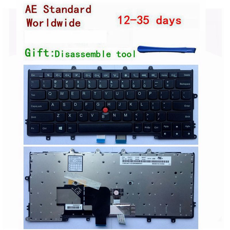 US Laptop Keyboard For Lenovo For IBM X240 X240s X240i X230s X230 X250 X260S Black Without Backlight New English цена