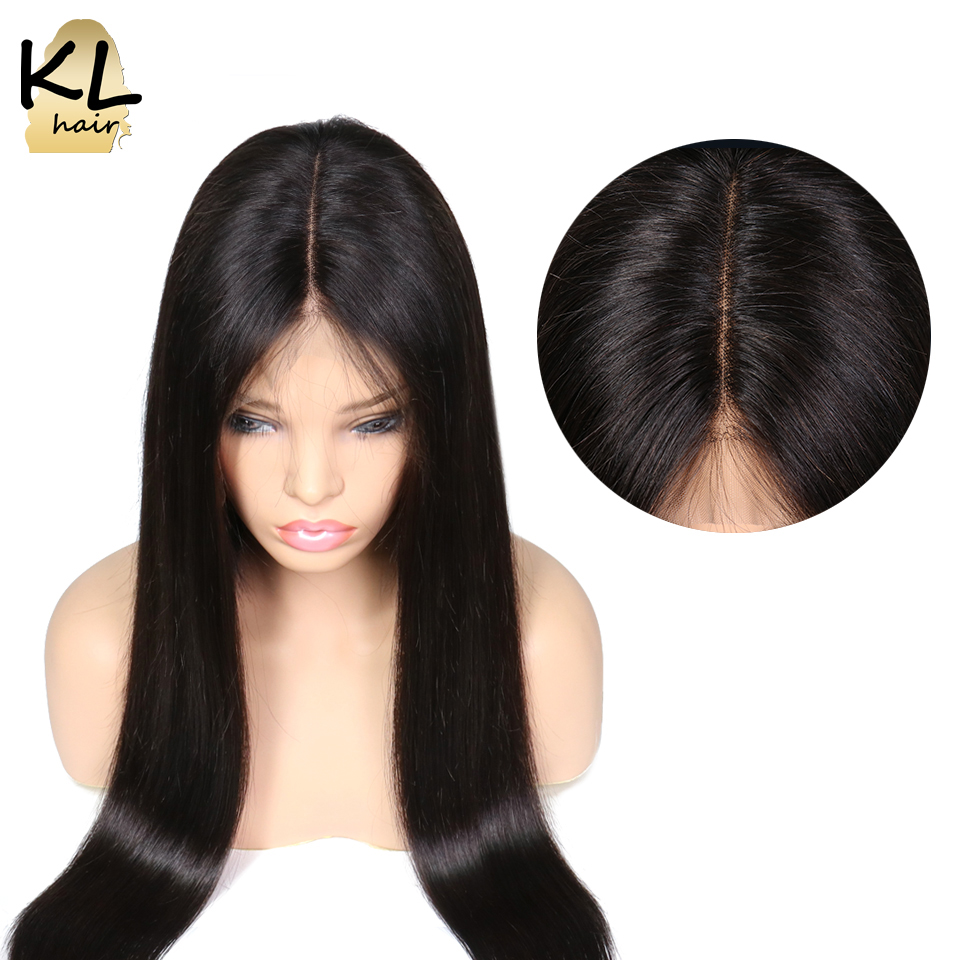 KL Hair Pre Plucked 13 6 Deep Part Straight Lace Front Human Hair Wigs With Baby