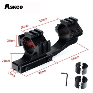 """Askco Hunting Tactical 1 inch 25.4mm 30mm Offset Rifle Scope 11mm 3/8"""" Dovetail Rings Mount with Extra Picatinny Weaver Rail(China)"""