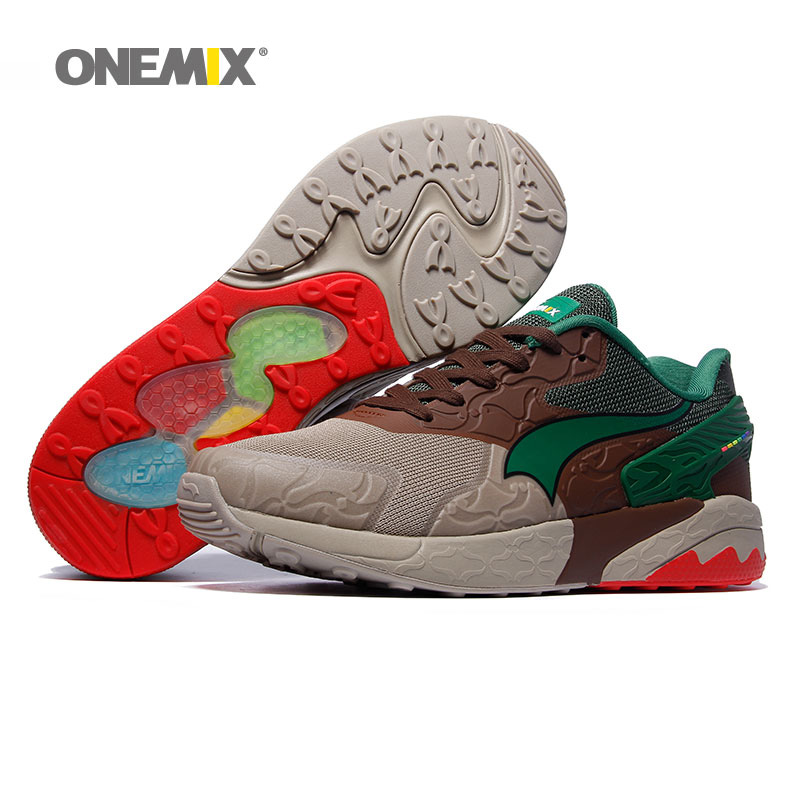 ONEMIX Men Running Shoes for Women Retro Classic Athletic Trainers Sports Shoe Jogging Mesh Breathable Outdoor Walking Sneakers new onemix breathable mesh running shoes for men women light lady trainers walking outdoor sport comfortable sneakers
