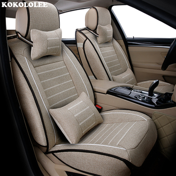 High quality flax car seat covers fit Peugeot 107 206 206CC 207 301 307 307CC 308 408 508 3008 car-styling Auto Accessories image
