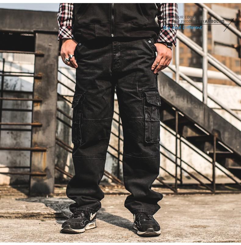 Japón estilo marcas Mens Hip Hop Baggy Jeans de bolsillo los hombres ... 92c27eb85c3