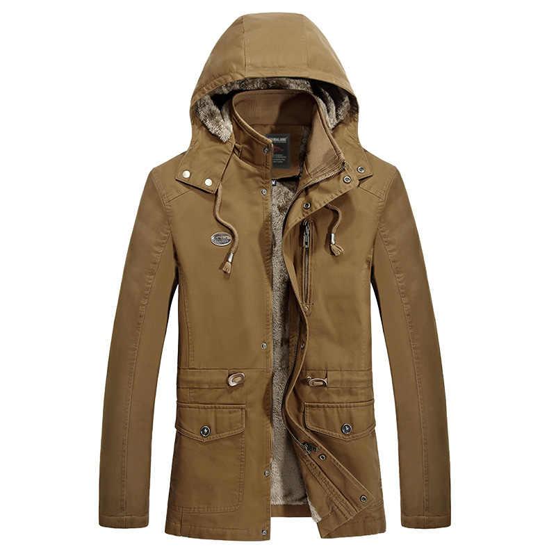 Chaqueta de invierno hombre además de terciopelo de lavado de algodón casual chaquetas y abrigos para hombre invierno 2019 ropa masculina ropa de invierno