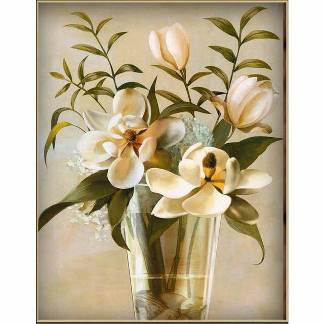 Us 5 23 29 Off 3d Kaca Vas Bunga Diy Berlian Lukisan Cross Stitch Kit Resin Menjahit Dekorasi Rumah Berlian Imitasi Mosaik Berlian Bordir Di Berlian