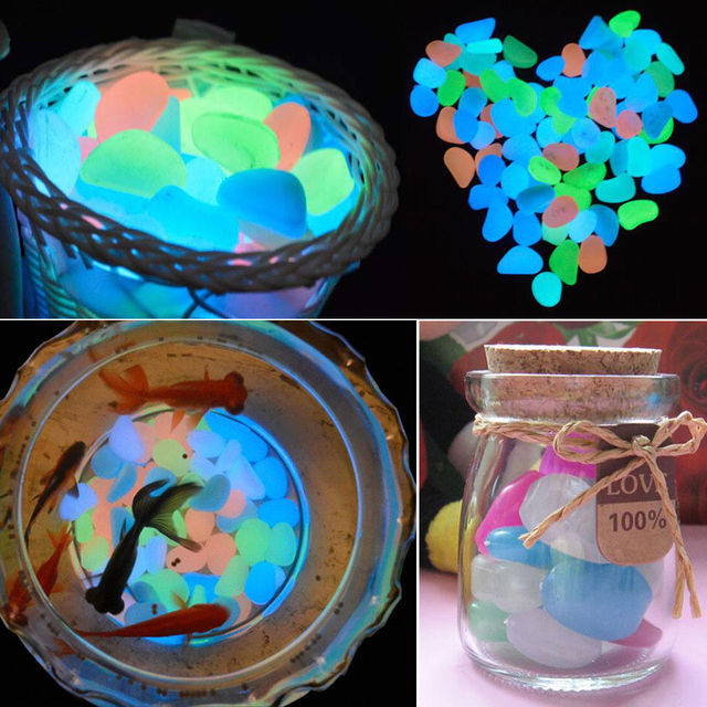 Glow In The Dark Luminous Pebbles Stones For Wedding Romantic Evening  Festive Events Supplies Garden Decorations