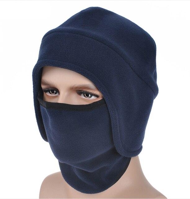 2016 women winter fur hats Outdoor Windproof Thick men s winter warm winter  snow women cap Face Mask men s cycling hat b7f9143e92ce