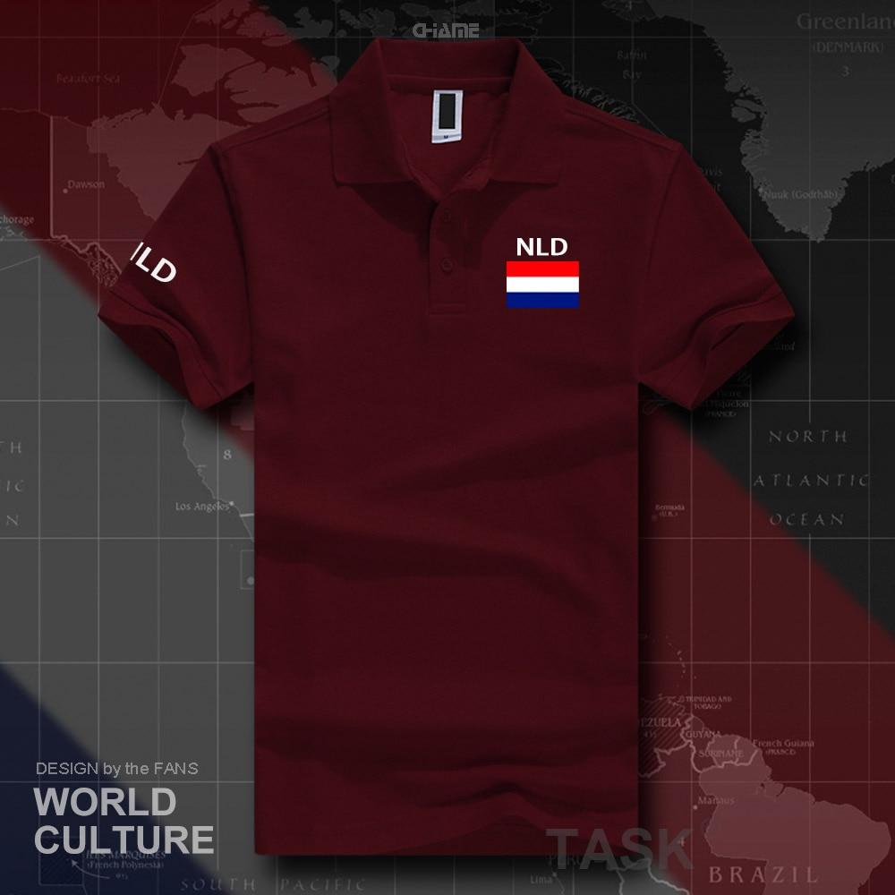 Netherlands Dutch polo shirts men short sleeve white brands printed for country 2019 nation team flag Nederland Holland NLD NL