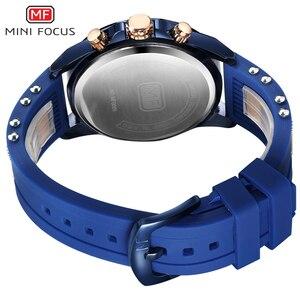 Image 5 - ミニフォーカスメンズ腕時計クォーツ時計男性防水ミリタリースポーツ時計男性ラグジュアリーブランド男性時計レロジオmasculinoブルー