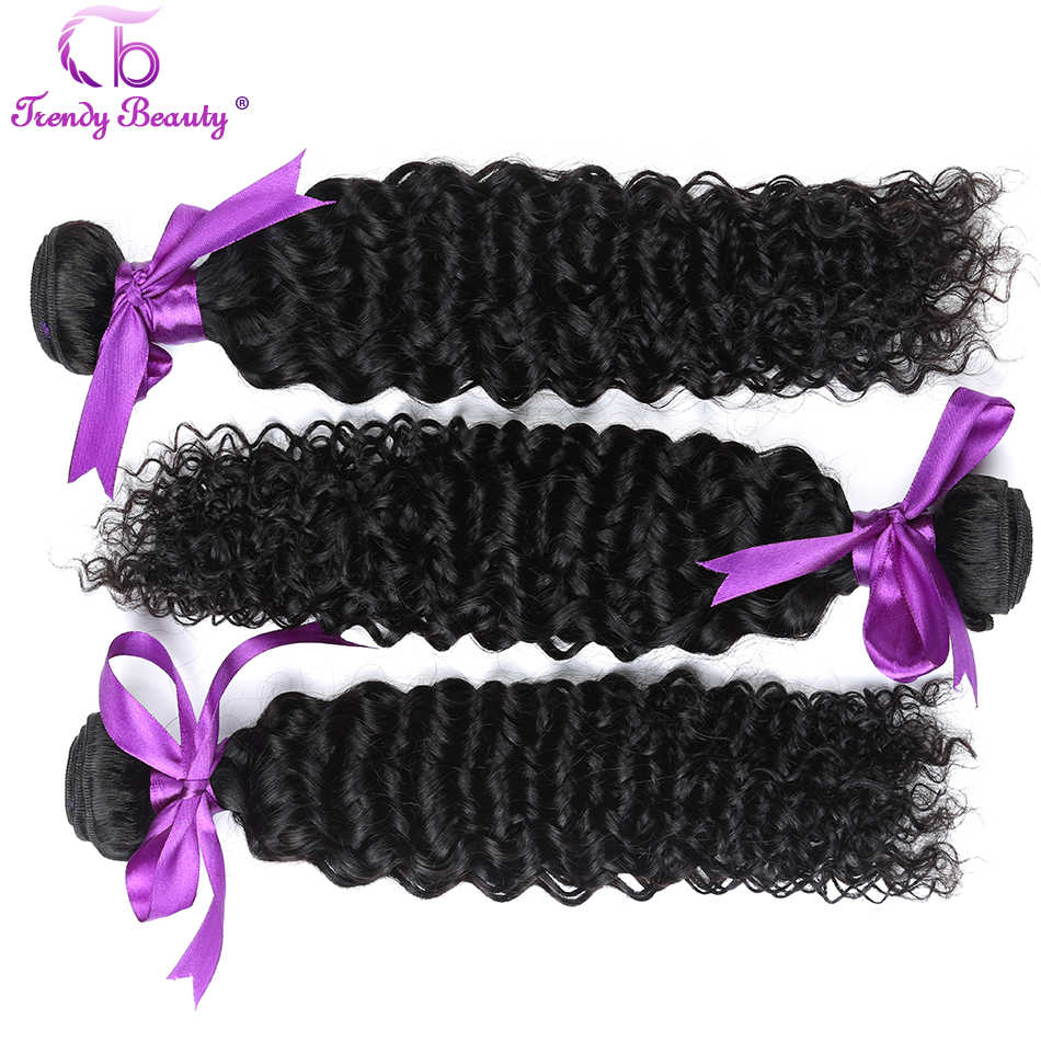 3 pcs per lot Peruvian Kinky Curly Hair Weave Bundles Human Hair Extensions 8-30 Inches color #1b Trendy Beauty Hair Non-remy