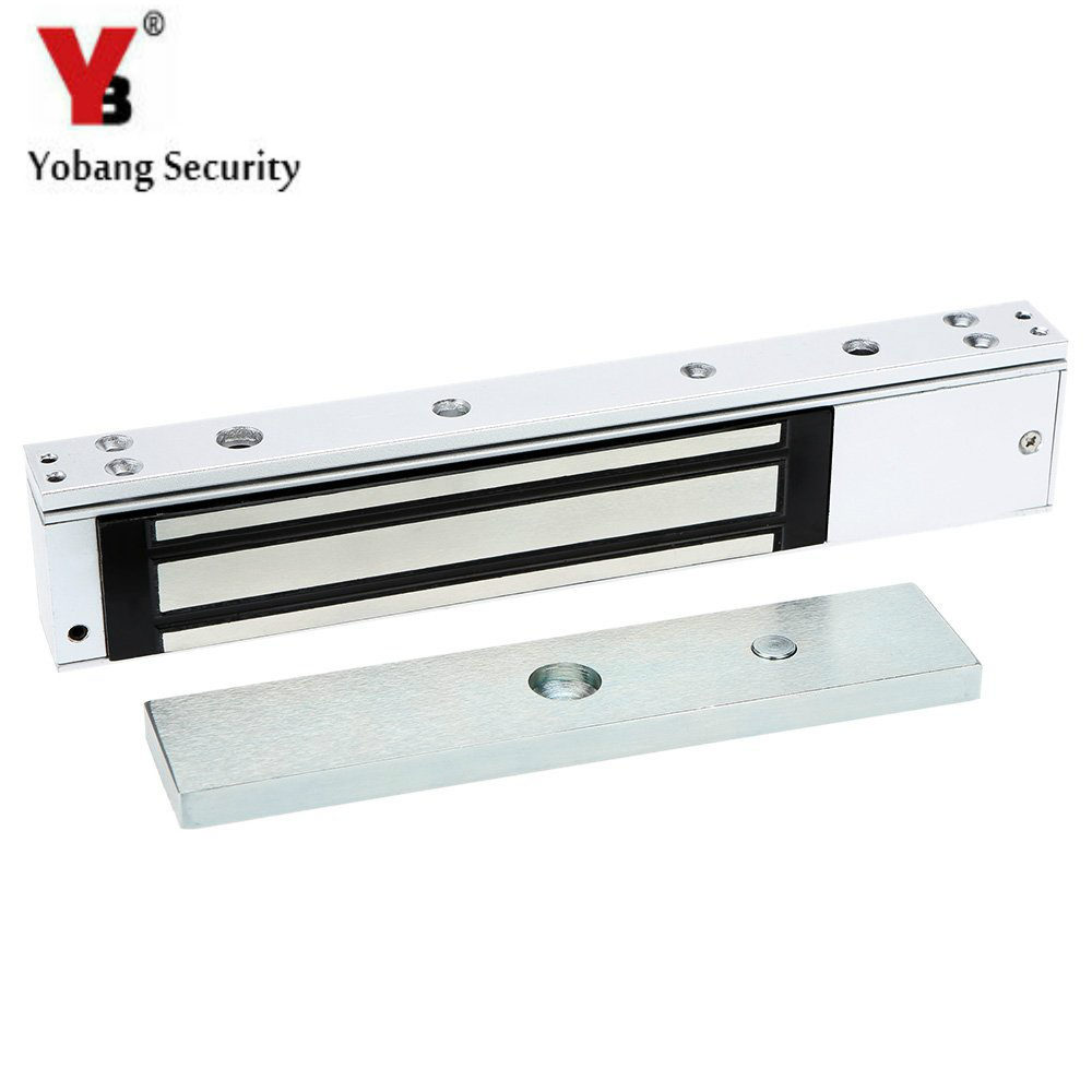 YobangSecurity Alluminum Single Door 12V Electric Magnetic Electromagnetic Lock Holding Force for Access Control for Door mc300 80ul access control single door 12v