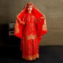 Customized 2016 Luxury Gold Embroidery Dubai Abaya Dress Muslim Dresses With Hijab Kaftan muslim islamic abaya dresses clothes