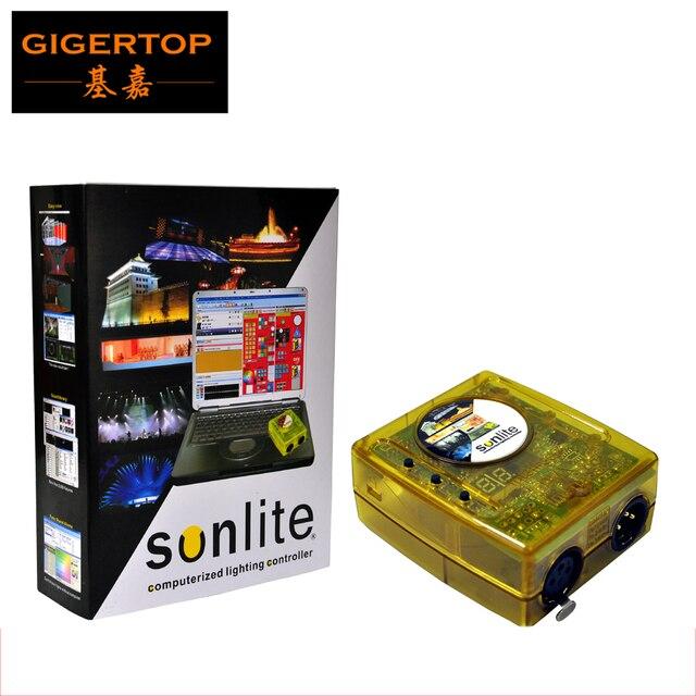Freeshipping Sunlite Костюм 1024 Канала Компьютеризированная Контроллер Освещения Box Поддержка Winxp/Win7 PC Стабильная Работа/в Автономном режиме Режим