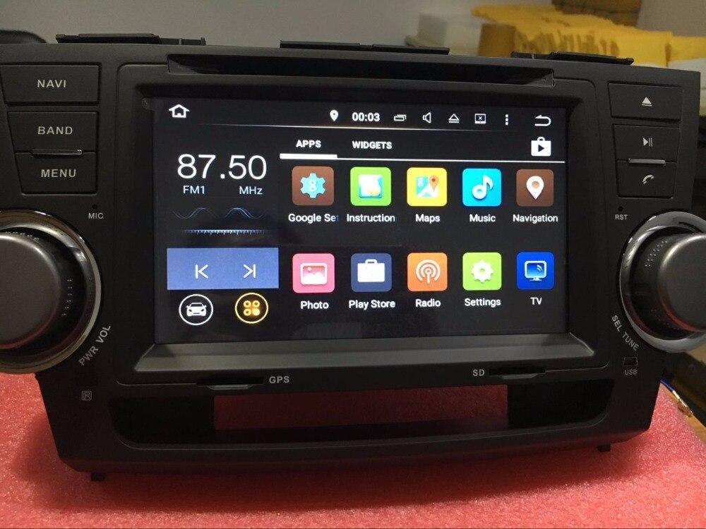 Quad CORE Android 6,0 7,1 dvd-плеер автомобиля головное устройство для Toyota Highlander 2007-2013 gps навигации автомобиль Авторадио стерео