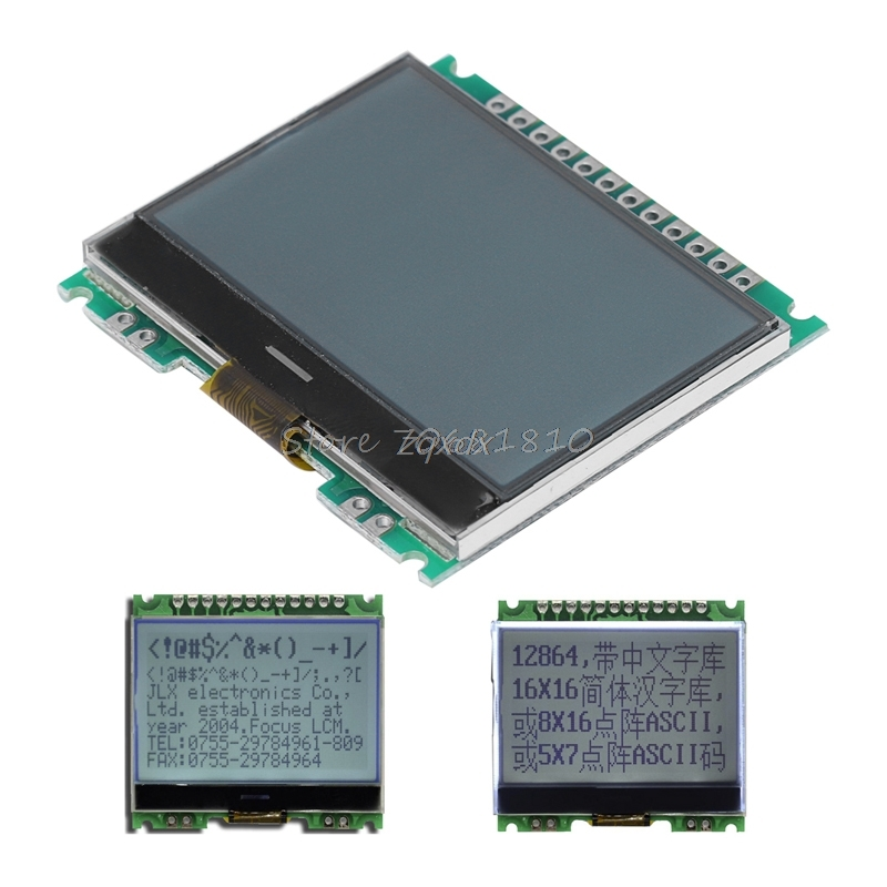 12864 128X64 Serial SPI Graphic COG LCD Module Display Screen Build-in LCM Z09 Drop ship