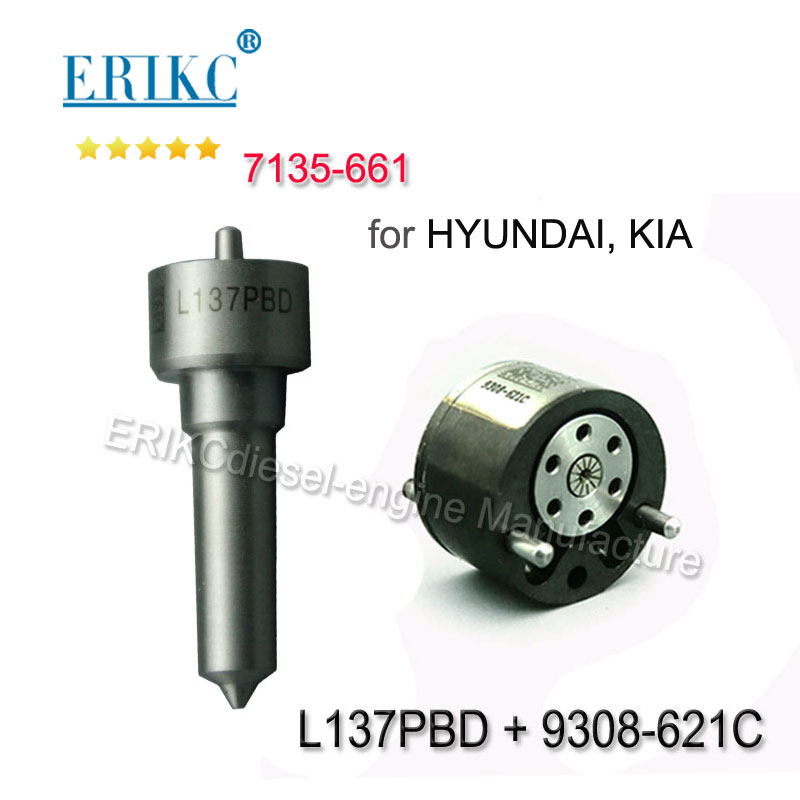 ERIKC 7135-661 injecor repair kits set L137PBD + 9308-621C for CR injector nozzle EJBR02901D EJBR03701D EJBR02401Z for DelphiERIKC 7135-661 injecor repair kits set L137PBD + 9308-621C for CR injector nozzle EJBR02901D EJBR03701D EJBR02401Z for Delphi