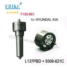 Kit de reparación de inyectores ERIKC 7135-661 L137PBD + 9308-621C para inyector CR EJBR02901D EJBR03701D EJBR02401Z para Delphi
