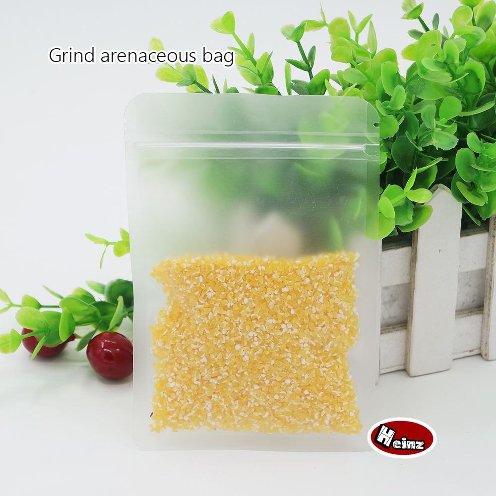 11 17cm Frosted Surface Clear Plastic bag Resealable Food Storage Packaging For Biscuits Snack Packaging Spot 100 package in Storage Bags from Home Garden