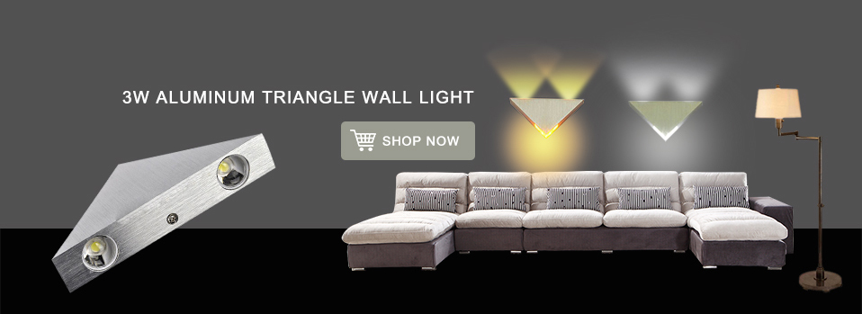 Современный простой светодиодный настенный светильник Серебряный