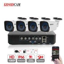 KRSHDCAM 4CH AHD DVR Security CCTV System 30M IR 4PCS 1080P CCTV Camera Outdoor Waterproof Camera Home Video Surveillance Kit