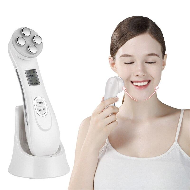 RF EMS électroporation LED photonique luminothérapie dispositif de beauté Anti-âge visage levage resserrement des yeux outils de soins de la peau du visage livraison directe 38