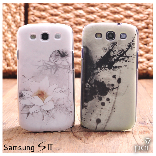 Ultra-thin  for SAMSUNG  Lotus flowers s3 i9300 s4 i9500 phone case mobile phone case note2 n7100 lovers phone case