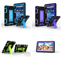 For Amazon Kindle Fire 7 5th Generation 2015 Heavy Duty TPU+PC Hybrid Armor Shockproof Stand Back Protective Cover Kids Case