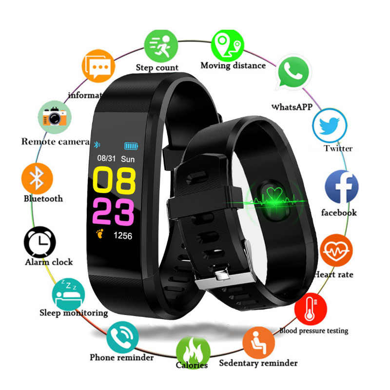 Men's watch ladies watch fitness tracker, heart rate monitoring IP67 waterproof calorie consumption pedometer sleep monitor