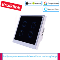 EU / UK Standard 1/2/3/4 Gang 1 Way Light Switch Wall Touch Smart Switch Ewelink APP Control Wifi Switch via Android/IOS Control