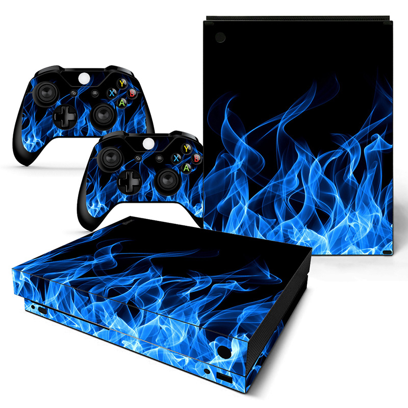 Free drop shipping New product protactive vinyl skin sticker for XBOX one X sticker console &controller #TN-XBONEX-0765