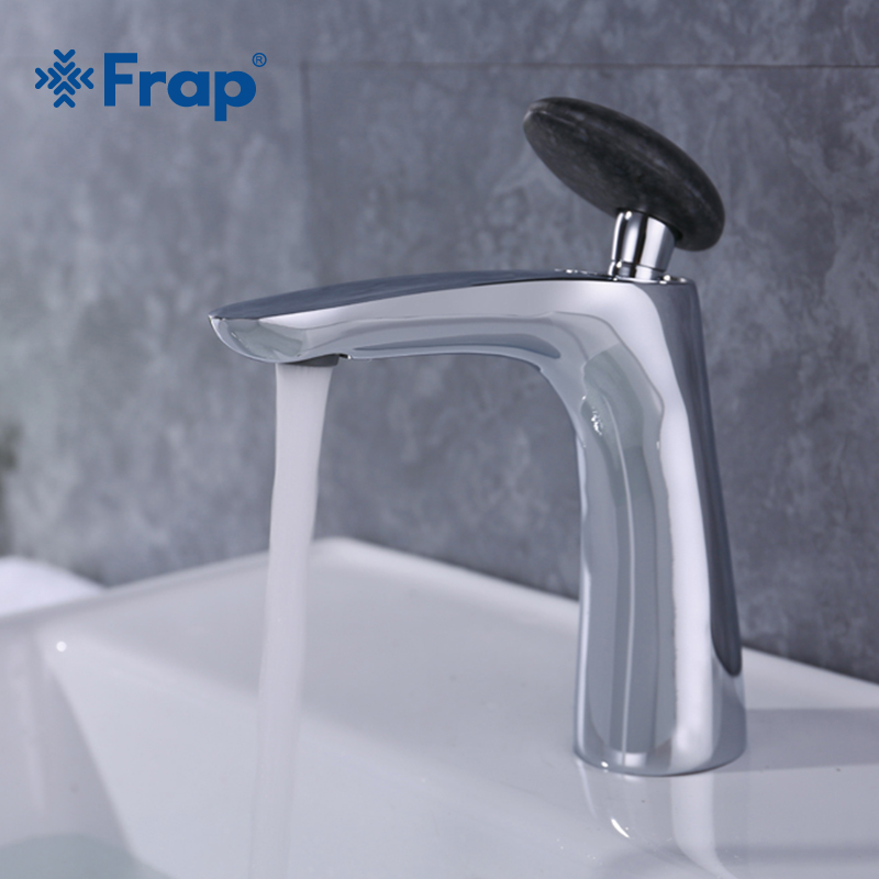 Frap brass bathroom basin faucet with black Round handle waterfall faucets tap bathroom for sink cold and hot water mixer Y10014 frap modern style basin faucet cold and hot water mixer 360 degree rotation tap single handle black white basin faucets y10023