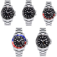 43mm Sterile Black Dial Sapphire Glass Romantic Sweet Date GMT Top Brand Luxury Automatic Movement mens Watch