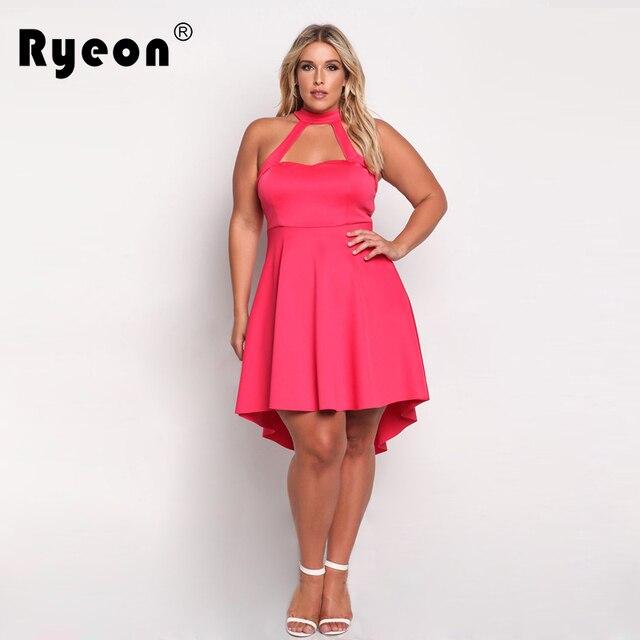 Ryeon Tunic Dresses Big Sizes 2017 Summer Party Sexy Women Dress