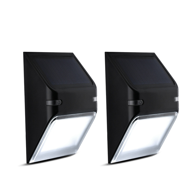 Aliexpress buy 2 packs solar lights 5led wall lamp wireless 2 packs solar lights 5led wall lamp wireless security outdoor lighting ip65 waterproof fence light for aloadofball Choice Image