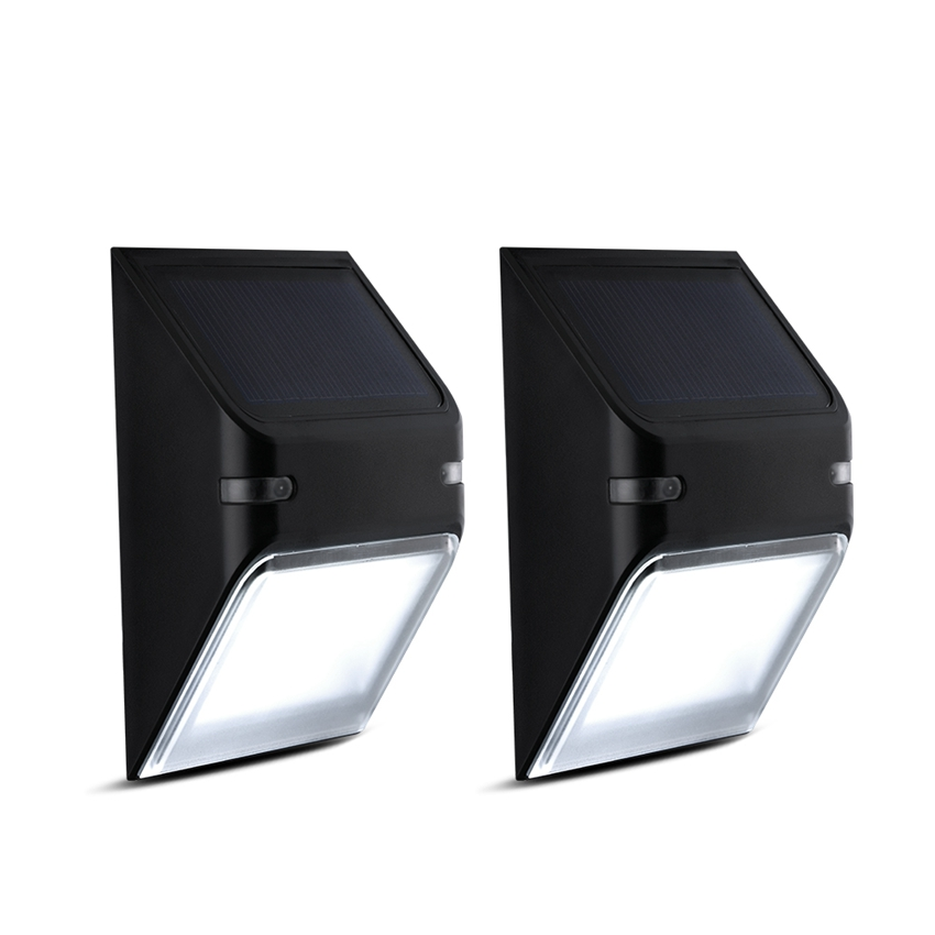 2 Packs Solar Lights 5LED Wall Lamp Wireless Security Outdoor Lighting IP65  Waterproof Fence Light For