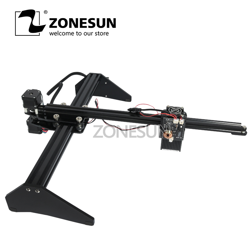 ZONESUN Mini défonceuse numérique de bureau bois timbre papier Laser Machine de gravure logo bricolage marquage imprimante Machine de découpe 30*40 cm