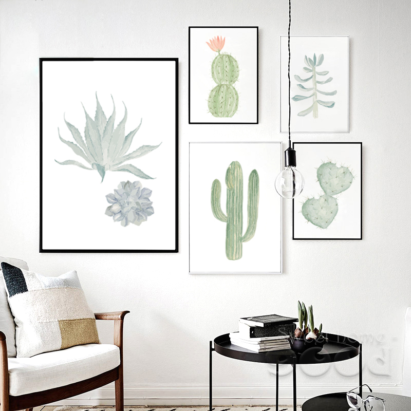 Picture Birthday Picture More Detailed Picture About Watercolor Succulent Canvas Art Print