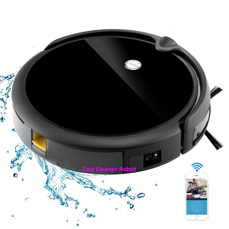 Camera Monitoring with APP control Robot Vacuum Cleaner for Wet and Dry Floor cleaning