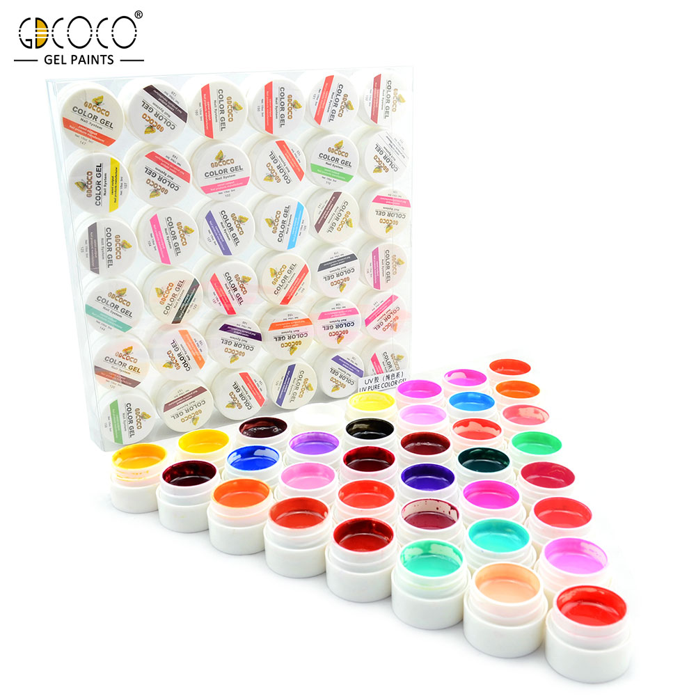 #20204 Cores GDCOCO UV Kit Unhas de Gel 36 Saída CANNI Nail Art Gel Pintura Gel Prego Projeto Pintura DIY gel