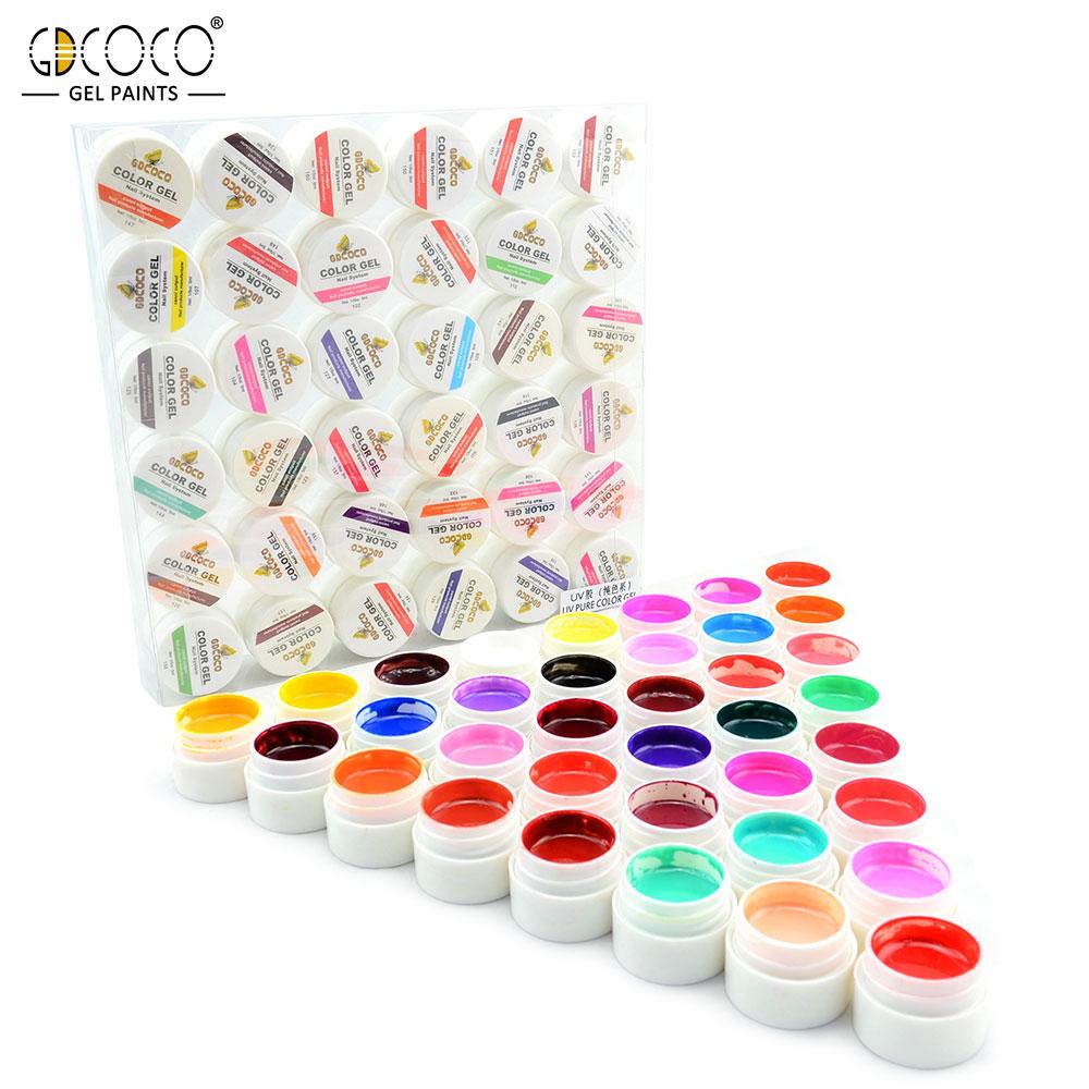 #20204 GDCOCO UV Gel Nägel Kit 36 Farben CANNI Ausgang Nail art Gel Malerei Gel Nagel Design DIY Farbe gel