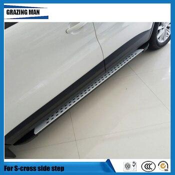 Barra de estribo lateral de aleación de aluminio de alta calidad para s-cross 2014 2015 2016 14 15 16