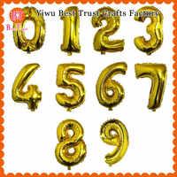 16 pulgadas de papel de aluminio número globos Mylar plata dorada 1000 piezas para fiesta boda cumpleaños decoraciones niños helio Baloon números